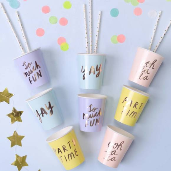 full set of paper party cups