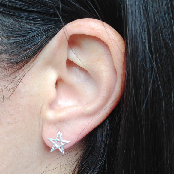 Pentacle Star Stud Earrings model
