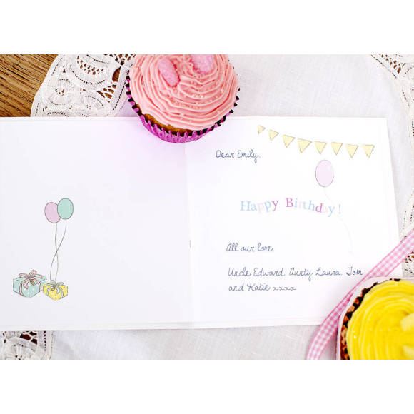 Birthday card inlay