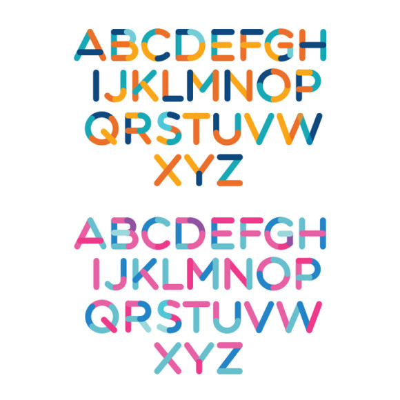 Alphabet sample