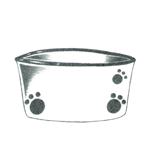 dog bowl 3 paws