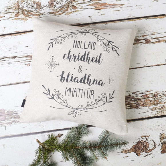 gaelic merry christmas and a happy new year on light natural - Merry Christmas In Gaelic
