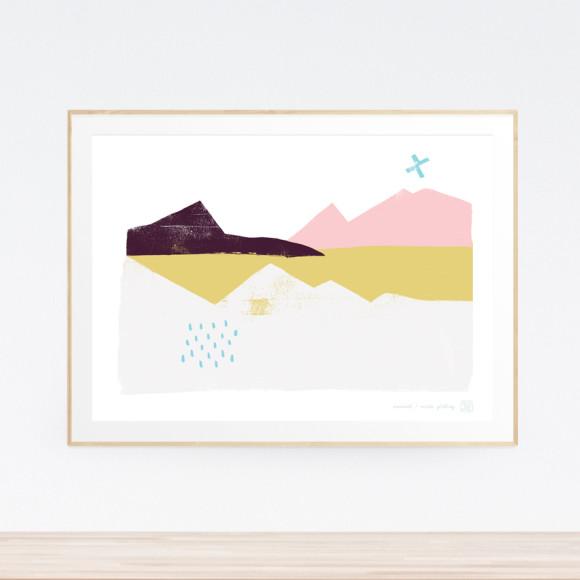 Moment Landscape Art Print (Framed)