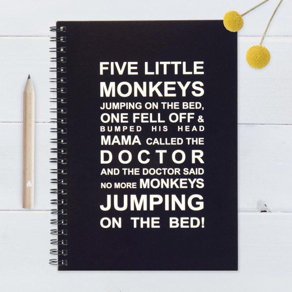 Five little monkeys notebook - Large