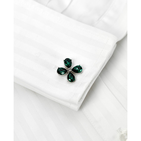 Katharine - Emerald Green on shirt
