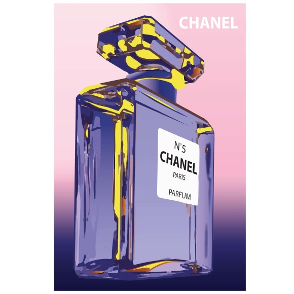 Chanel bottle print
