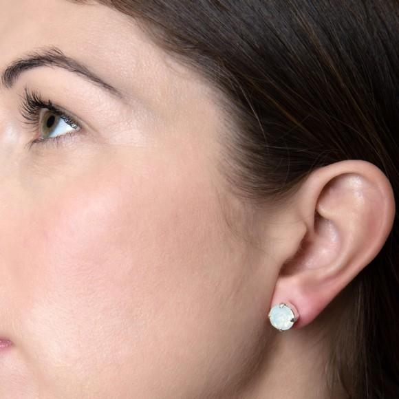 Model wearing White Opal