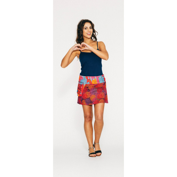 Rosanna Skirt Short - Geo Star Print