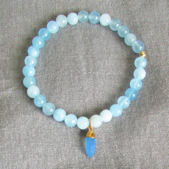 Azure aqua jade bracelet