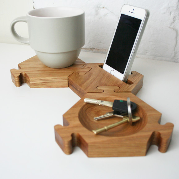 Coaster, bowl and phone stand