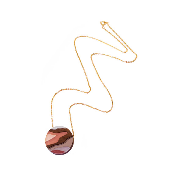 Marble II Necklace - Apricot