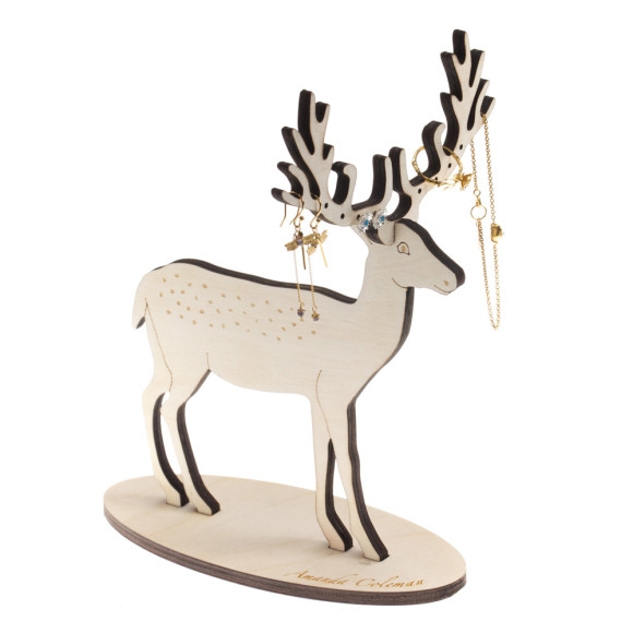 Amanda Coleman Small Deer Jewellery stand with jewellery