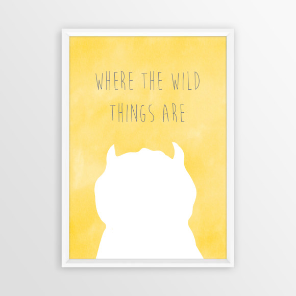 Where the Wild Things Are Print in Yellow