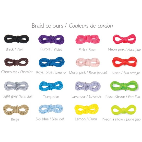 Braid colour chart