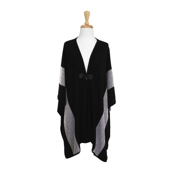 Black & Grey Poncho