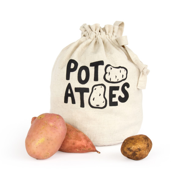 Set Of 3 Bread Potatoes And Onions Eco Storage Bags
