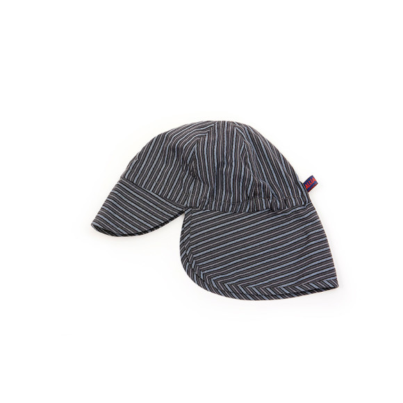 grey blue striped sun hat