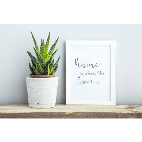 This print placed in a frame makes a wonderful house warming gift idea