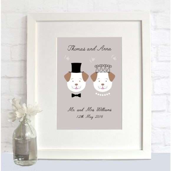 Personalised Fido wedding print