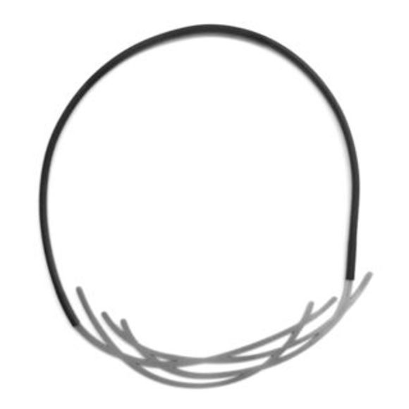 Nest-Necklace-Raw Stainless Steel