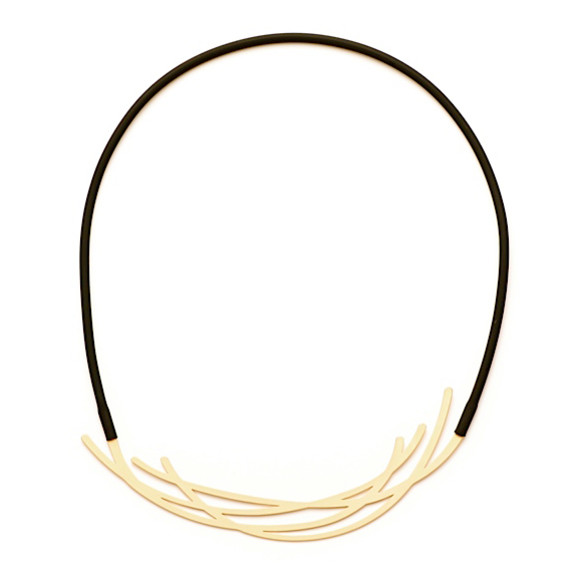 Nest-Necklace-22ct Matt Gold Plate