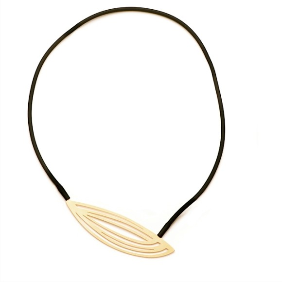 Pod-Necklace-22ct Matt Gold Plate