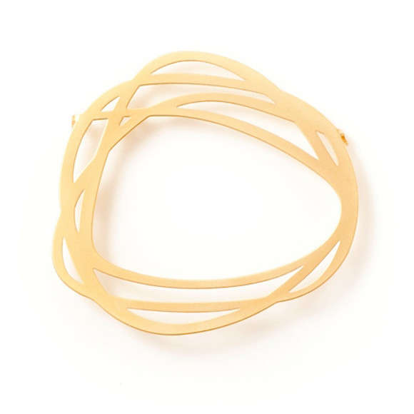Rings-Brooch-22ct Matt Gold Plate