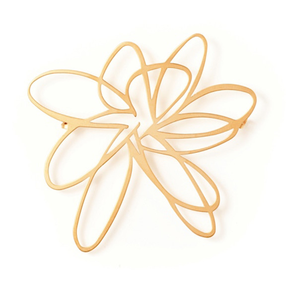 Flower Brooch-22ct Matt Gold Plate