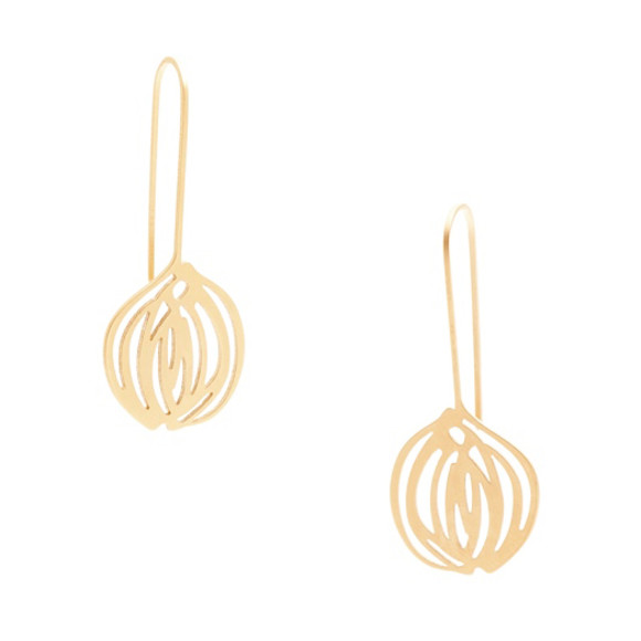 bulb earrings-gold