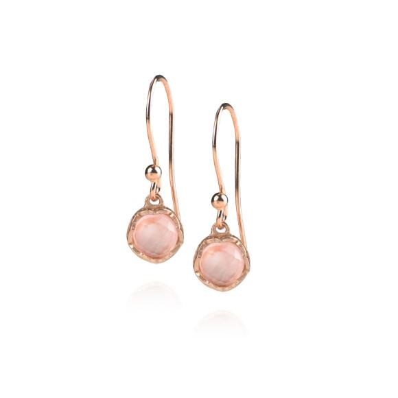 Zefyr Dosha Earrings Rose Gold With Rose Quartz