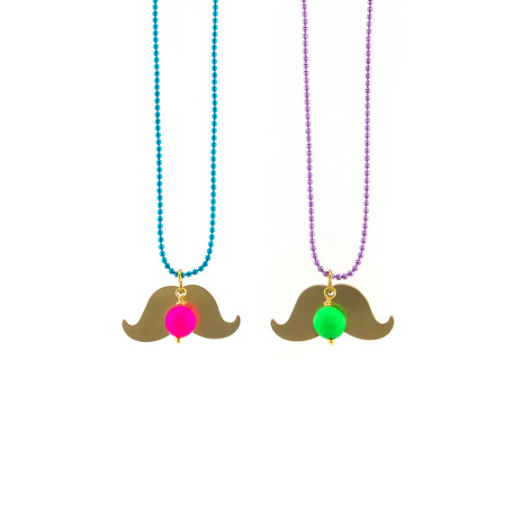 Moustache necklace