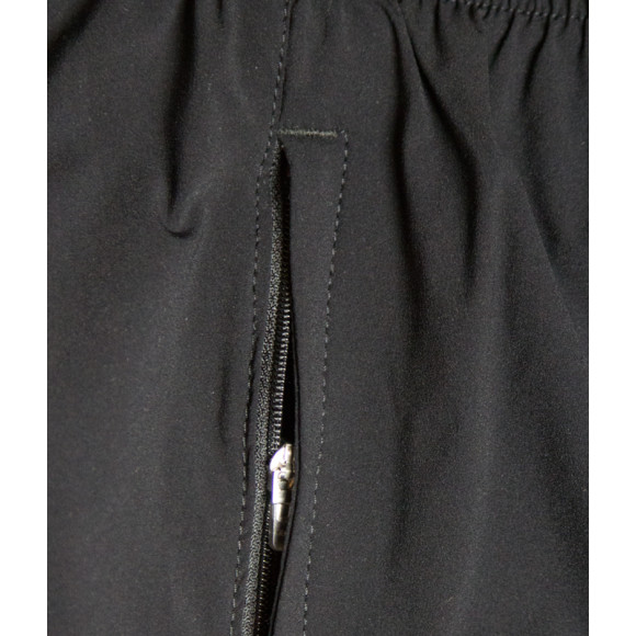 The Black Performance Shorts - Secure zip pocket