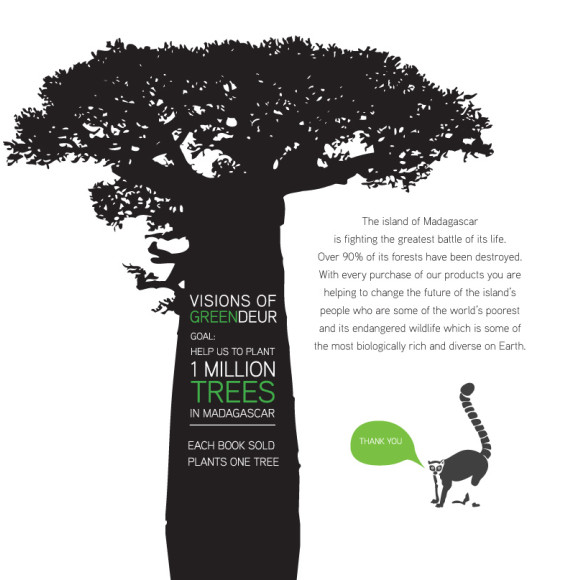 Each book sold plants a tree in Madagascar