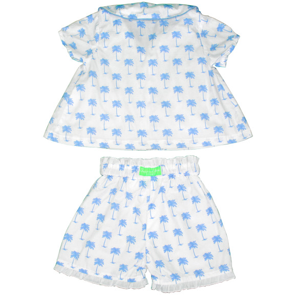 blue girls pj set