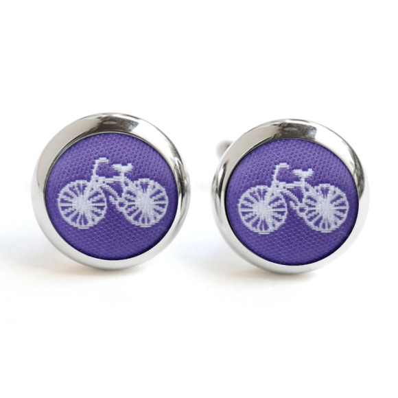 Purple Bike Cufflinks