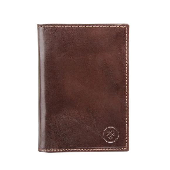 chocolate brown leather passport holder