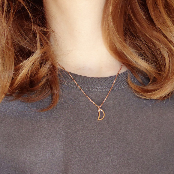 Crescent Moon Necklace Model