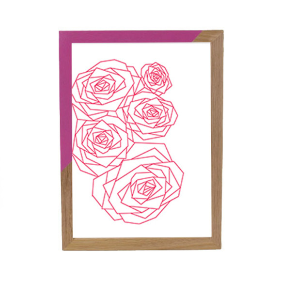 Geo Rose Pink - Pink Zap