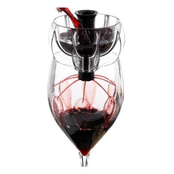 WineWeaver wine aerator - Black Velvet