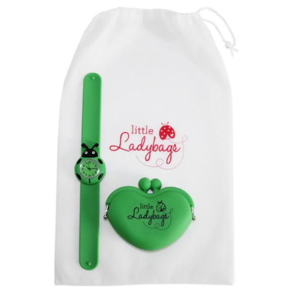 Ladybug Watch & Purse - Green