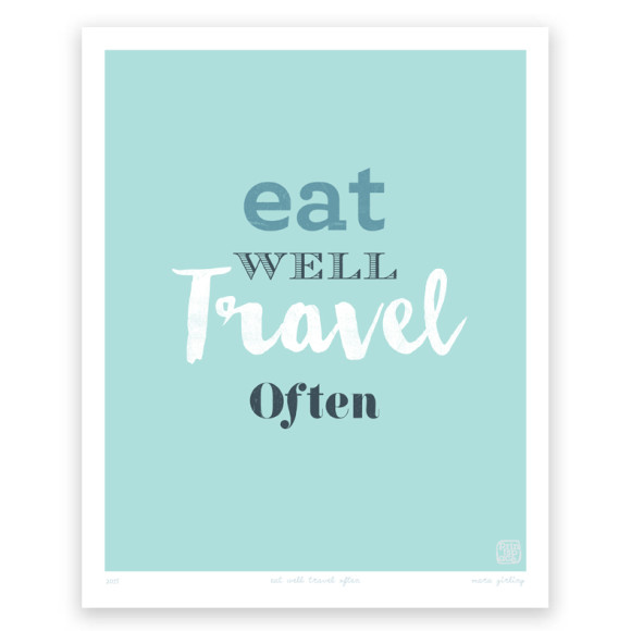 Eat Well Art Print