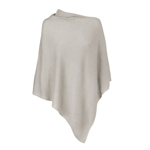 Cool Grey 100% Cashmere Poncho