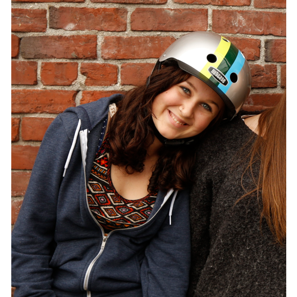 Street Helmet - Varsity Stripe
