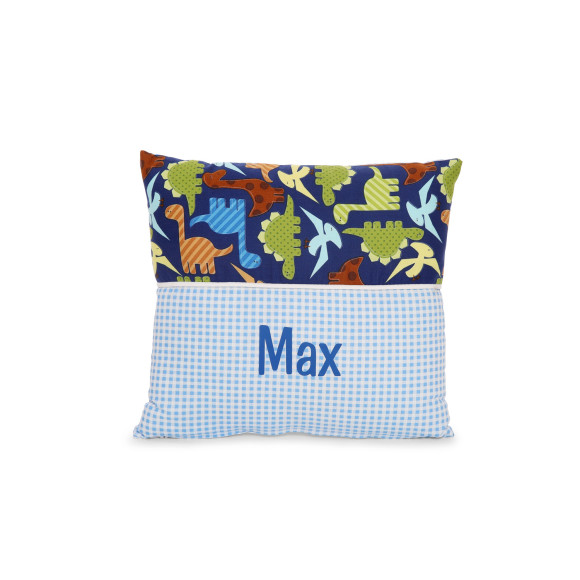Persononalised Name Cushion in Dinosaur