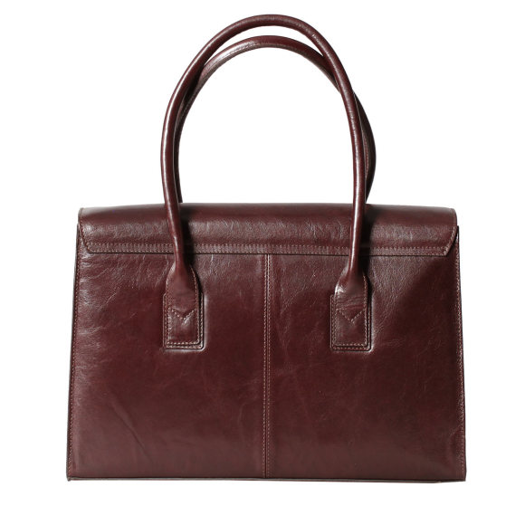 The Fabia ladies business bag in chocolate brown