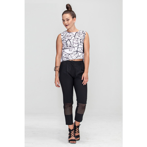 A-line straight fit crop top