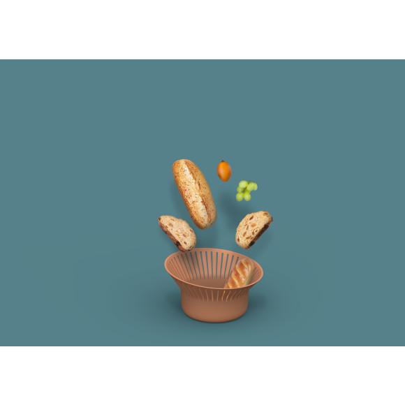 Ruff Bread Basket in Terracotta