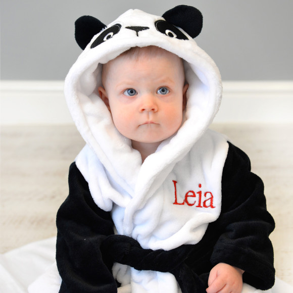 Personalised Soft Panda Dressing Gown | hardtofind.