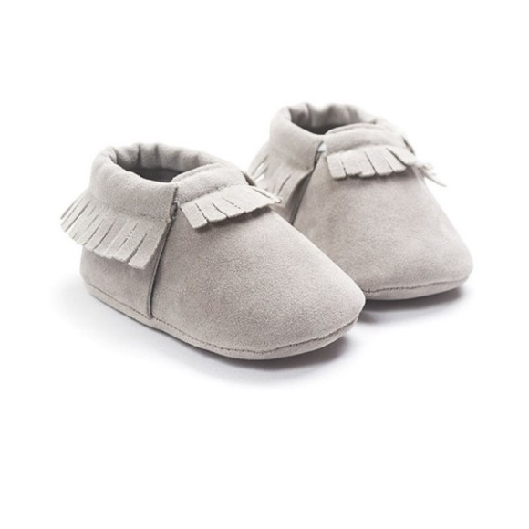 Baby Moccasins Grey