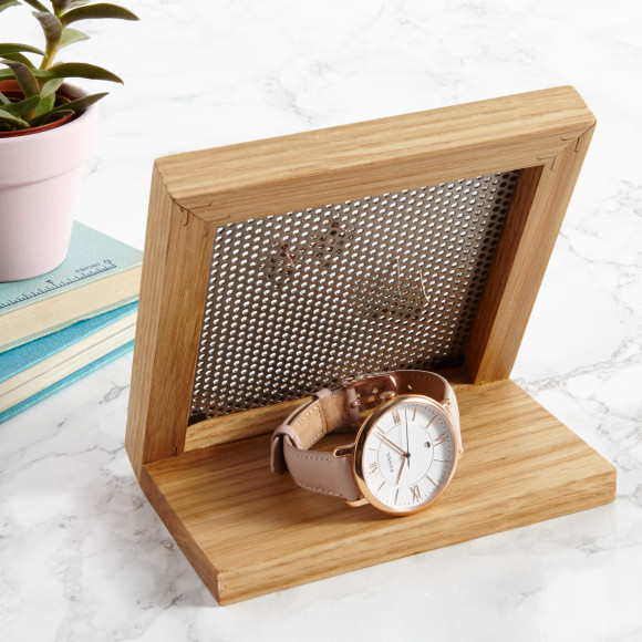 Personalised Earring Stand With Watch Storage